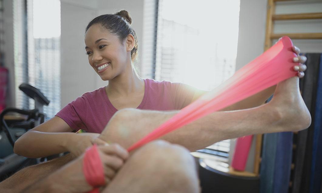 geriatric therapy leg band treatment